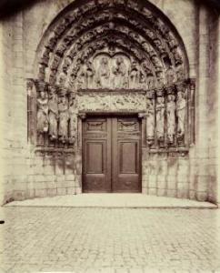 ATGET Eugène, Porche de a cathédrale de Senlis, C.1900-BD