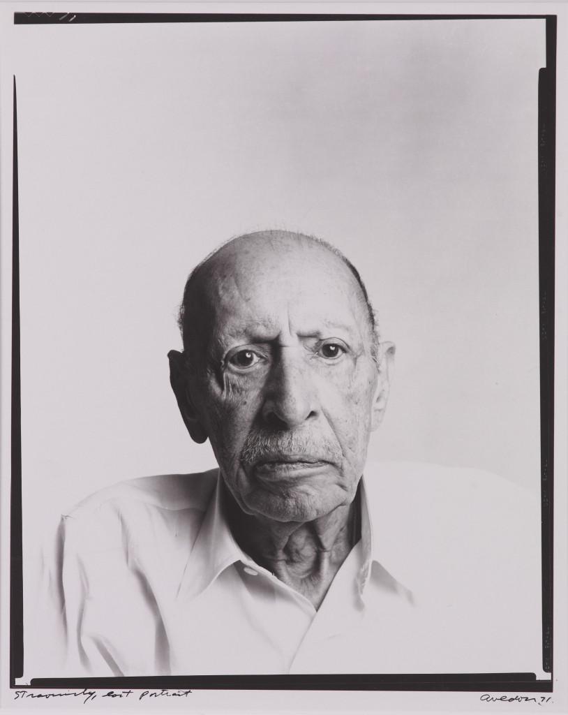 Stravinsky, last portrait