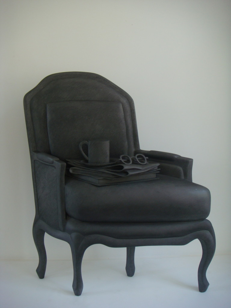 Point of view black graphite chair
