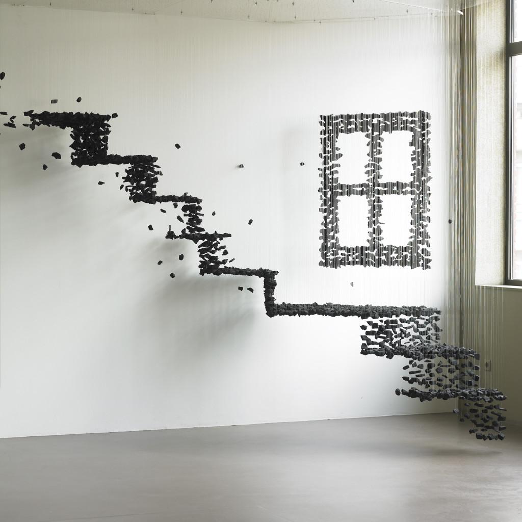 Stairway charcoal sculpture