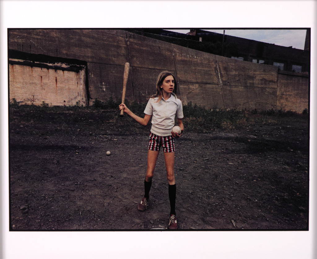 Girl with bat and ball, Plymouth, PA