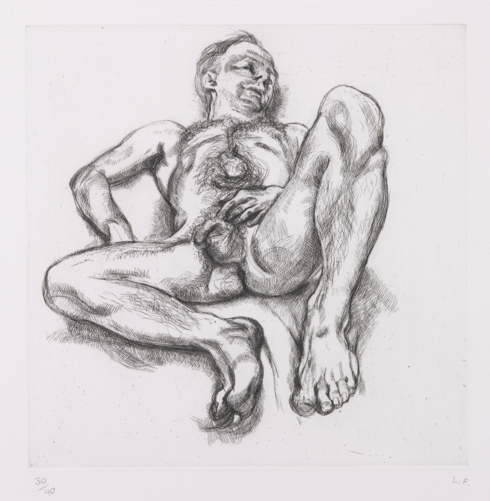 Naked man on a bed' (H. 40)