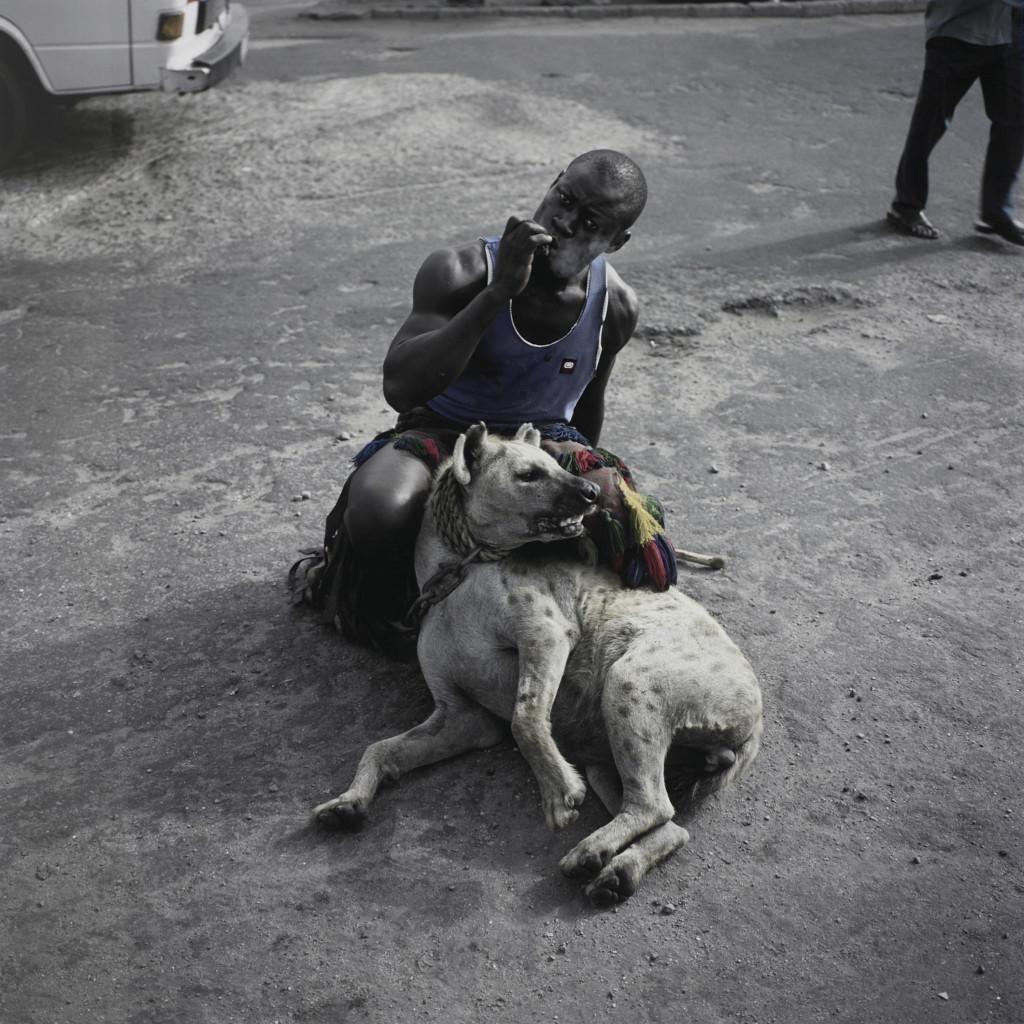 Abdullahi Mohammed with Mainasara, Lagos, Nigeria' (Gadawan Kura – The Hyena Men)