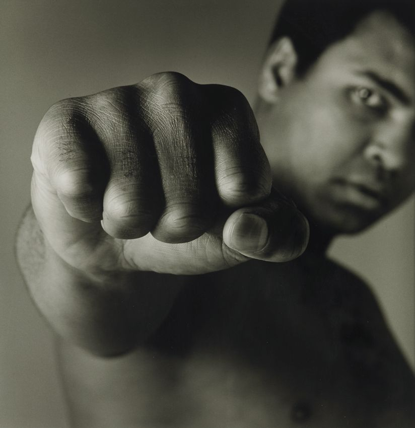 Mohamed Ali Portrait au poing